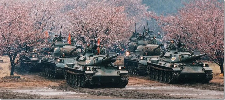 Jpn Tanks & Cherry Blossoms